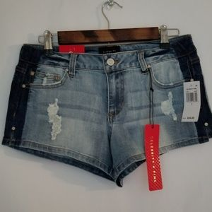 Nwt, Celebrity pink distressed shorts